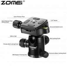 ZOMEI ZM-03 Photography Tripod Ball Head + Quick Release Plate (Black)